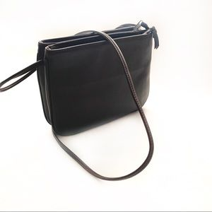 Lord & Taylor Brown Leather Purse/Crossbody Bag